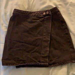 ASOS UK Black Denim Wrap Skirt